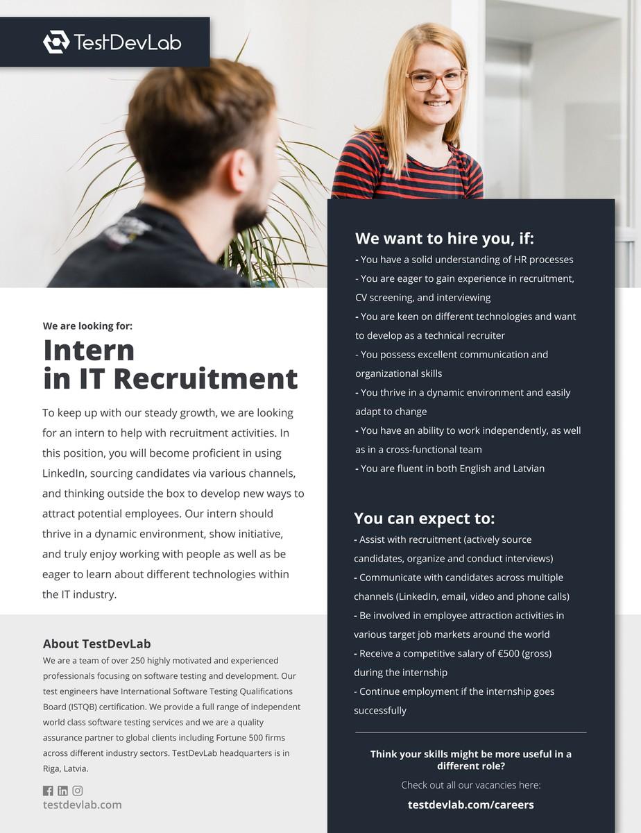 Intern in IT Recruitment