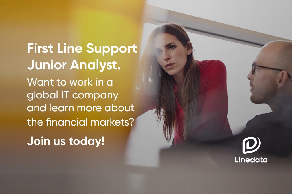 First Line Support Junior Analyst