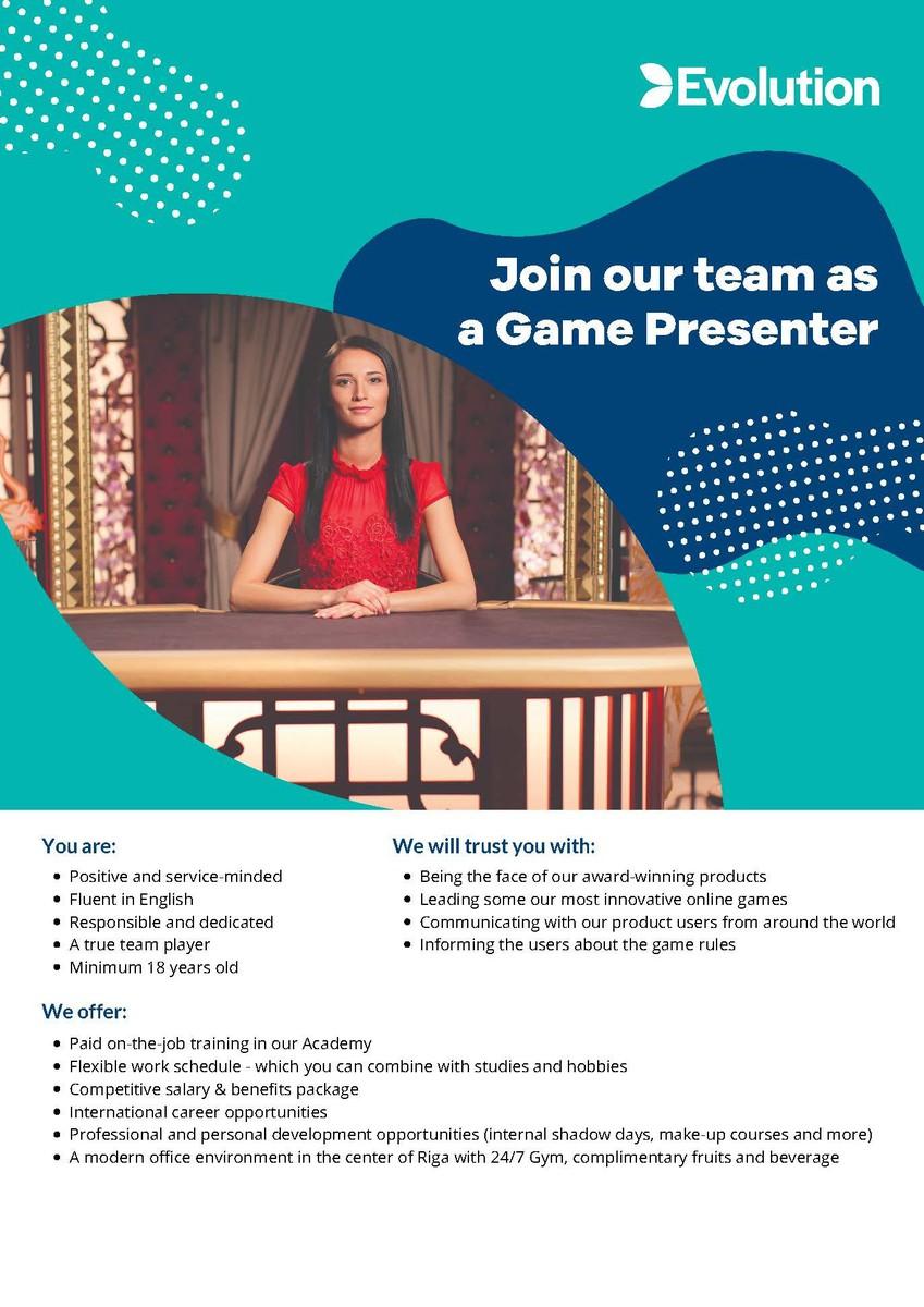 Game presenter/Spēļu prezentētājs