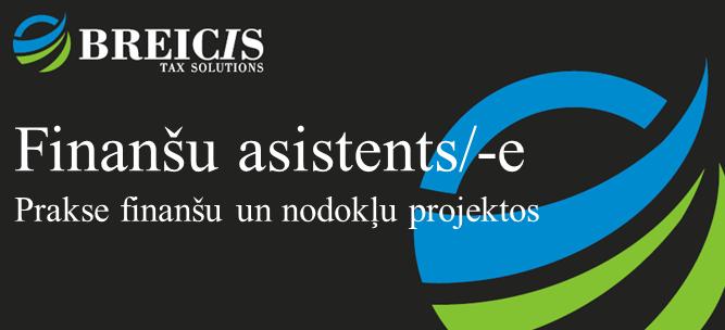 Finanšu asistents (-e)